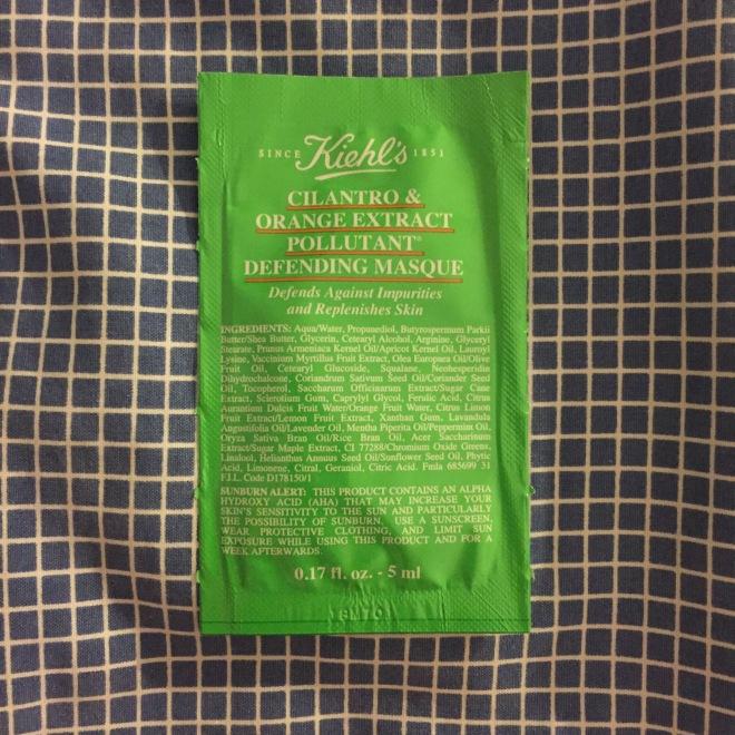 Kiehl's Cilantro & Orange Extract Pollutant Defending Masque Sample